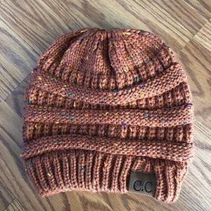CC confetti beanie hat